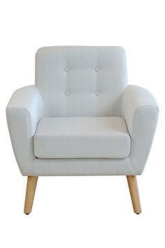 MY-Furniture SEXTON Armsessel , Natur - Hellgrau