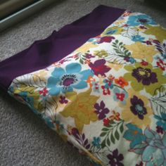 DIY pillow case I love the pattern