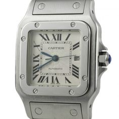 Cartier Santos Stainless Steel Swiss Made Automatic Men's Watch