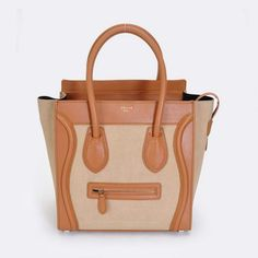 0c929a0372b6 Celine Luggage Mini Boston Bag Leather Apricot Celine