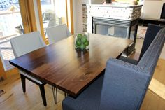 Walnut Slab Dining Table  Beautiful Natural Live by WickedBoxcar, £890.00
