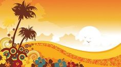UHD 3840x2160 Windows 10 wallpaper Tropical World Vector