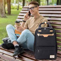 Computer Backpack, Travel Backpack, Leather Briefcase, Leather Bag, Canvas Laptop Bag, Work Handbag, Shoulder Bags For School, Messenger Bag Men, School Backpacks