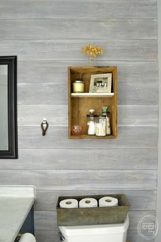 Install a DIY plank wall   how to whitewash wood   whitewashed horizontal plank wall   whitewash ship lap wall   the best way to whitewash wood