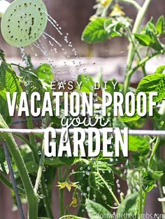 Great gardening tip! Super simple DIY hacks to set up before you leave for vacation to vacation-proof your garden and ensure your plants don't die while you're gone! They take just a few minutes, and will make a world of a difference for your garden! :: D