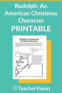Looking for a Christmas activity for kids? In this arts & crafts activity, students create a Rudolph paper doll. Rudolph is an American Christmas character – one of Santa's reindeer. Christmas Activities For Kids, Craft Activities, Kwanzaa, Hanukkah, December Holidays, Christmas Characters, Santa And Reindeer, Paper Dolls, Arts And Crafts
