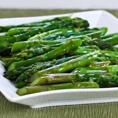 Kalyns Kitchen®: Recipe for Barely-Cooked Asparagus with Lemon-Mustard Vinaigrette  [#SouthBeachDiet friendly from Kalyn's Kitchen]
