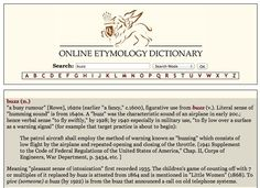 Online Etymology Dictionary - Gives you the history and derivation of any word. http://www.etymonline.com/