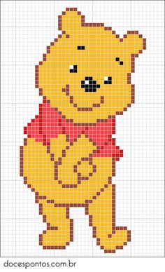 Trendy Knitting Charts Disney Winnie The Pooh Ideas Beaded Cross Stitch, Cross Stitch Baby, Cross Stitch Charts, Cross Stitch Designs, Cross Stitch Embroidery, Cross Stitch Patterns, Beading Patterns, Embroidery Patterns, Crochet Patterns