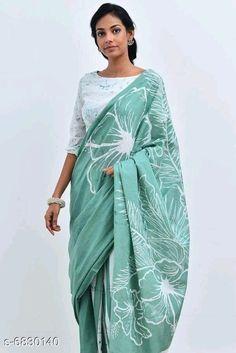 Mumul cotton Saree:Starting ₹810/- free COD whatsapp+919199626046 Cotton Saree Designs, Saree Blouse Designs, Saree Jackets, Hand Painted Sarees, Block Print Saree, Online Shopping Sarees, Stylish Sarees, Elegant Saree, Batik Prints