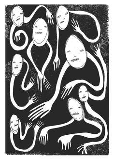 Cba 2 Pretend No More - Illustration by Polly Nor - POLLYNOR