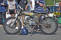 Yamaha Cafe Racer, Cafe Bike, Custom Mini Bike, Custom Bikes, Suzuki Van Van, Honda Cub, Honda Bikes, 50cc, Bike Design