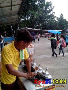 Quezon Circle Memorial Circle Lawasang Aurora Shed with Dirty Ice Cream Vendor