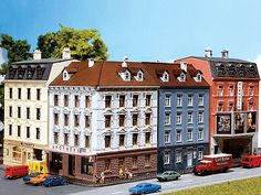 Faller Gmbh 232262 - Corner House - Weathered Model (272-232262) - Walthers Model Railroading