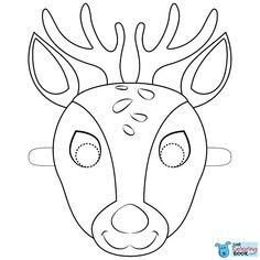 deer mask coloring page free printable coloring pages pertaining to moose mask coloring pages Deer Coloring Pages, Free Printable Coloring Pages, Coloring Pages For Kids, Coloring Sheets, Coloring Books, Printable Masks, Printables, Animal Mask Templates, Cardboard Mask