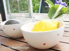 Bolle med hjerter. Tableware, Dinnerware, Tablewares, Dishes, Place Settings