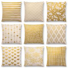 Arte de ouro Triângulos Decorativas Listras Linhas Padrão Geométrico Abstrato Impressões Sofá Throw Pillow Caso Capa de Almofada Decoração Da Sua Casa em Capa de almofada de Home & Garden no AliExpress.com | Alibaba Group