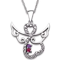 Zales Couples Simulated Birthstone and Diamond Accent Divided Heart Pendant in Sterling Silver (2 Stones and Names) 6LlXq7Ys
