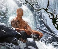 Warrior Monk (meditation) by Michael Komarck