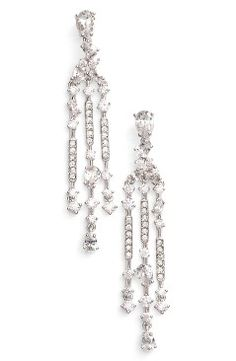 Nadri Ava Crystal Chandelier Earrings