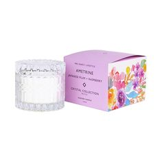 Mrs. Darcy | Crystal Candle Petite - Ametrine: Japanese Plum + Raspberry Japanese Plum, Crystal Collection, Raspberry, Wax, The Incredibles, Candles, Crystals, Candy, Crystal