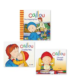 Loving this Caillou Experiences Book Set on #zulily! #zulilyfinds