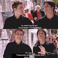 Creepy dude that hangs out with mom, who's not dad The post Creepy dude that hangs out with mom, who& appeared first on Mom Memes . Vampire Diaries Wallpaper, Vampire Diaries Quotes, Vampire Diaries Cast, Vampire Diaries The Originals, Stefan Salvatore, Damon Salvatore Vampire Diaries, Damon Salvatore Quotes, Series Quotes, Cw Series