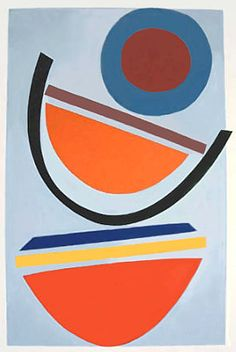 rockingham gallery - terry frost - original silkscreen - signed and numbered - swing blue - 2002