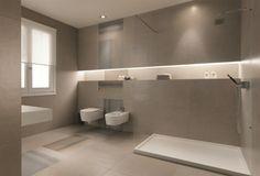 Ein Badezimmer in neutralen Farben , die ein Gefühl für Ruhe vermitteln
