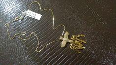 Cordão espírito santo banhado a ouro 18k com pedras micro zirconia não escurece com um ano de garantia (21)976727663 whatsapp