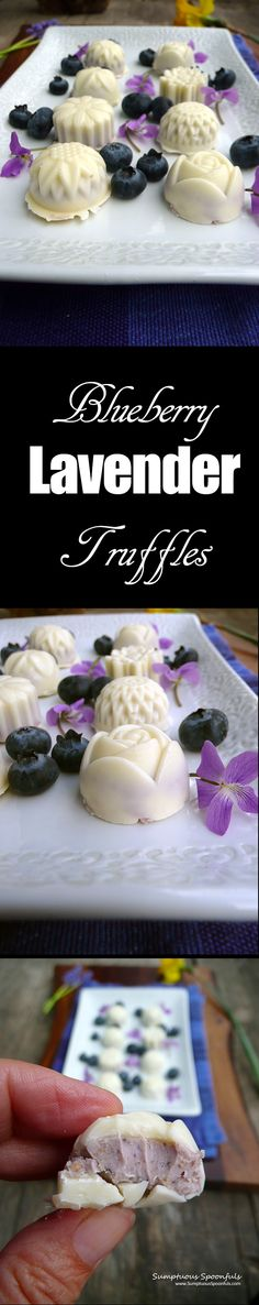 A lovely little sweet treat, laced with white chocolate, wild blueberries, a little cream cheese, vanilla and lavender, molded into pretty floral shapes. Of all the truffles I've made so far,…