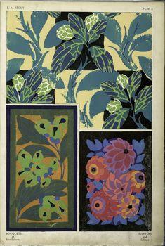 Emile-Allain Séguy (French, 1877–1951.) Bouquets et Frondaisons [foliage)]: 60 Motifs en Couleur, Published by Ch. Massin & Cie., Paris. ~1925, Technique: pochoir. Plate no. 4.