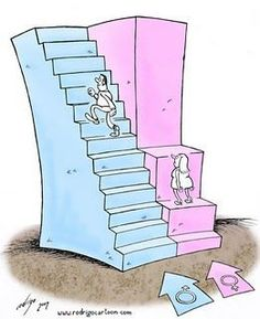 Today's cartoon on equal opportunity, by Rodri. - - Today's cartoon on equal opportunity, by Rodri… – - Political Art, Political Cartoons, Gender Equality Poster, Pictures With Deep Meaning, Art With Meaning, Today Cartoon, Satirical Illustrations, Meaningful Pictures, Gender Inequality
