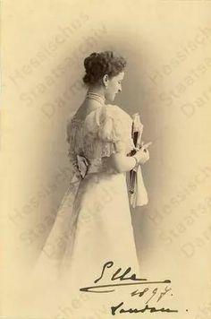 Grand Duchess Elizabeth Feodorovna nee Princess Elisabeth of Hesse and by Rhine. Older sister of Empress Alexandra Feodorovna of Russia, 1897.
