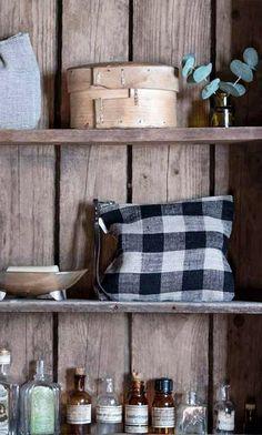 Check linen pouch - Plümo Ltd Swing Tags, Clothing Size Chart, Pouch, Monochrome, Zip, Home Decor, Check, Accessories, Decoration Home
