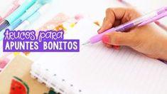 Trucos para hacer apuntes bonitos Smash Book, 5 Minute Crafts, Ideas Para, Hand Lettering, Diy And Crafts, Study, Organization, School, Bullet Journal