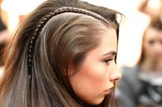 """""""You'll see looks on the runway that are crafty, aty and beautiful but those that can go from the catwalk to the chair,"""" says Cloud Nine's Renya Xydis. """"Structured, hair pulled back, twisted plaits, double plaits, sexy, 3D hair looks that not only look great coming down the catwalk, but from the side and from the back, too."""""""