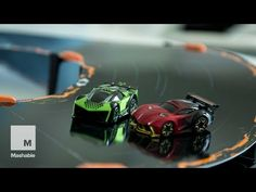 Racing the robot cars of Anki Overdrive | Mashable - YouTube