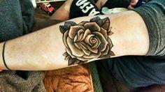 Elbow Rose Tattoo