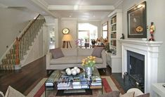 large-narrow-long-house-Fullham-remodeling-design Decorate with the Neo Baroque style Narrow Living Room, Open Plan Living, My Living Room, Home And Living, City Living, Victorian Terrace House, Victorian Homes, Townhouse Interior, Long House