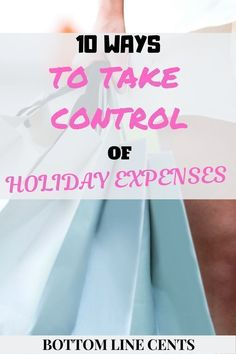 10 Ways to Take Control of Holiday Expenses and Save money. These money saving tips will show you how to budget for christmas. They are great frugal living tips for families and young adults. Managing Your Money, Make Money Blogging, Money Tips, Money Saving Tips, How To Make Money, Personal Finance Articles, Finance Tips, Savings Planner, Thing 1