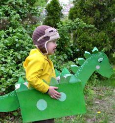 Easy DIY cardboard box dinosaur costume for kids // Dinó jelmez gyerekeknek kartondobozból - farsangi jelmez // Mindy - craft tutorial collection // #crafts #DIY #craftTutorial #tutorial