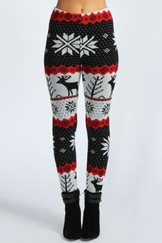 Super cute with a knitted Christmas sweater for Christmas eve or morning!