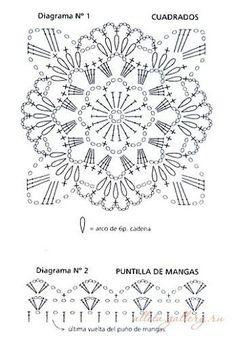 (41) 297125-f1a02-69959547-m549x500-u06a63.jpg (348×500) | Crochet Flowers and Motifs