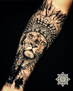 Forearm Cover Up Tattoos, Lion Forearm Tattoos, Forarm Tattoos, Leg Tattoo Men, Dope Tattoos, Badass Tattoos, Leg Tattoos, Body Art Tattoos, Tribal Tattoos