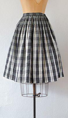 vintage 1950s PLOT ELEMENTS skirt from Adored Vintage | vintage plaid skirt