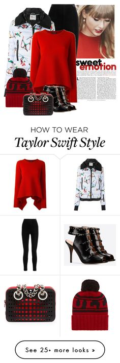 """""""Sweet Emotion"""" by butterflykate88 on Polyvore featuring Balmain, Moncler Grenoble, Alexander McQueen, Valentino, The Elder Statesman and Prada"""