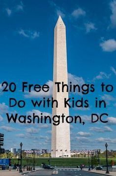 One of the things about Washington, DC is that there's so much to do that's Free. One could easily spend a week in the Nation's Capital without spending a penny on attractions. Take a look at 20 favorite Free things to do with kids in Washington, DC. Washington Dc Vacation, Washington Dc With Kids, Visit Washington Dc, Washington Dc Attractions, East Coast Travel, East Coast Road Trip, Zermatt, Travel With Kids, Family Travel