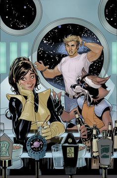 The Legendary Star-Lord - Kitty Pryde and Rocket Raccoon (unlettered) by Rachel and Terry Dodson