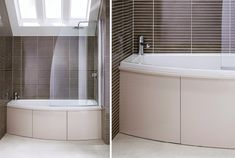 At long, the symmetry bath with co-ordinating bath screen is the perfect size for the average british bathroom Bathroom Furniture, Dark Bathrooms, Bathroom Wall Tile, Modern Bathroom, Bathroom, British Bathroom, Bath Shower Screens, Family Bathroom Design, Bathroom Design